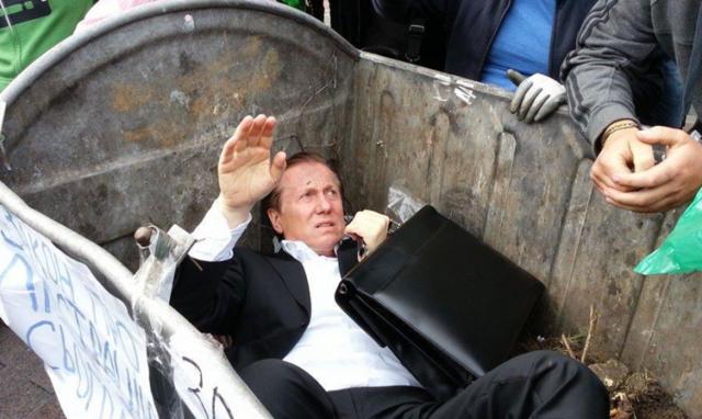 Депутата Журавского пытались сжечь под Верховной Радой - видео